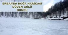 Düden Gölü Dondu