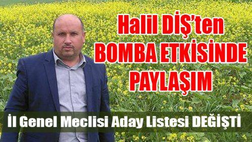 ERBAA AK PARTİ İL GENEL MECLİS ADAYI HALİL DİŞ ÖYLE BİR PAYLAŞIM YAPTIKİ...