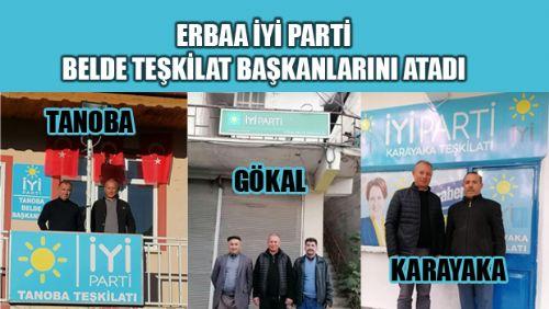 ERBAA İYİ PARTİ BELDE TEŞKİLAT BAŞKANLARINI ATADI
