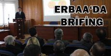 ERBAA'DA BRİFİNG