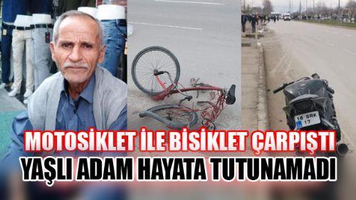 ERBAA'DA MOTOSİKLET VE BİSİKLET ÇARPIŞTI