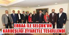 ERBAA'DAN KARDEŞ BELEDİYE SELÇUK'A ZİYARET