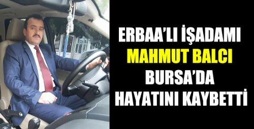 ERBAA'LI İŞADAMI MAHMUT BALCI BURSA'DA VEFAT ETTİ