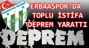 ERBAASPOR'DA DEPREM