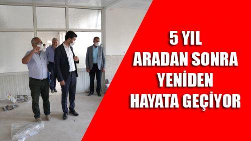 Erbaa Belediyesi Ali Özgül Geçici Konukevi tadilat çalışmaları devam ediyor.