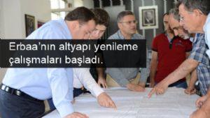 Erbaa Belediyesi Erbaa'nın altyapısını yenileme çalışmalarını başlattı.