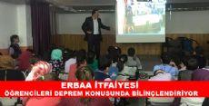 Erbaa Belediyesi İtfaiyesi Deprem Seminerleri