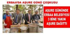Erbaa Belediyesi Yaklaşık 3 Bin kişiye Aşure Dağıttı.