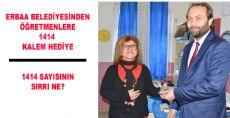 Erbaa Belediyesinde Öğretmenlere 1414 Kalem Hediye