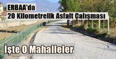 Erbaa Belediyesinden 20 Km Asfalt Daha