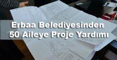 Erbaa Belediyesinden 50 Aileye Proje Yardımı