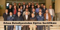 Erbaa Belediyesinden Eğitim Sertifikası