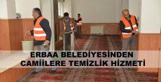 Erbaa Camiilerine Belediyeden Temizlik Hizmeti