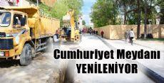 Erbaa Cumhuriyet Meydanı YENİLENİYOR