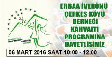 Erbaa İverönü Çerkes Köyü Derneği Kahvaltı Programına Davetlisiniz...