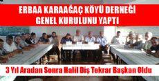 Erbaa Karaağaç Köyü Derneği Genel Kurulunu Yaptı