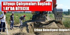 Erbaa Karşıyaka Mahallesinde Çalışmalar Başladı