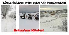 Erbaa Köylerinde Beyaz Güzellik