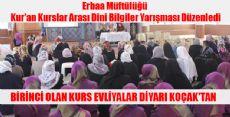 Erbaa Kur'an Kurslar Arası Dini Bilgiler Yarışması Sonuçlandı