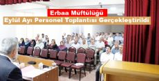 Erbaa Müftülüğü Eylül Ayı Personel Toplantısı Gerçekleştirildi