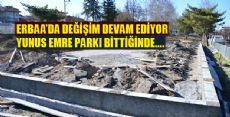 Erbaa Yunus Emre Parkı Yenileniyor