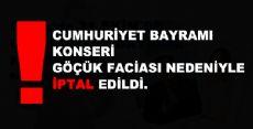 Erbaa'da 31 EKİM'DE Cumhuriyet Bayramı Konseri - İptal Edildi