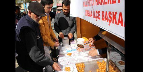Erbaa'da Alpaslan Türkeş İçin Lokma Dağıtıldı