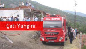 Erbaa'da Çatı Yangını
