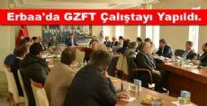Erbaa'da GZFT Çalıştayı Yapıldı