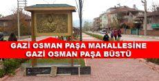 Erbaa'da Gazi Osman Paşa Büstü