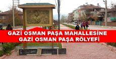 Erbaa'da Gazi Osman Paşa rölyefi