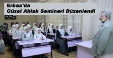 Erbaa'da Güzel Ahlak Semineri Düzenlendi