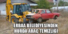 Erbaa'da Hurda Araç Temizliği