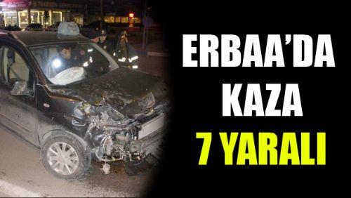 Erbaa'da İki Araç Çarpıştı 7 YARALI