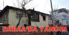 Erbaa'da İki Katlı Ahşap Binada Yangın