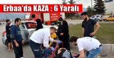 Erbaa'da İki Otomobil Çarpıştı: 6 Yaralı