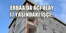 Erbaa'da İnşaattan Düşen İşçi Yaralandı