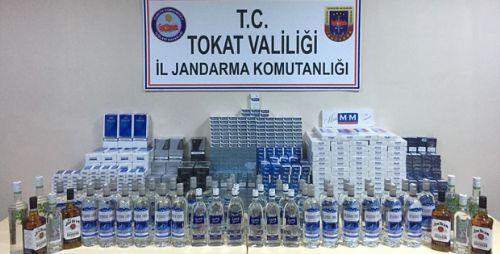 Erbaa'da Kaçak Sigara ve İçki Operasyonu