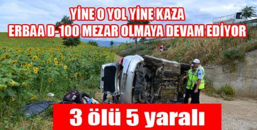 Erbaa'da Kaza: 3 Ölü 5 Yaralı