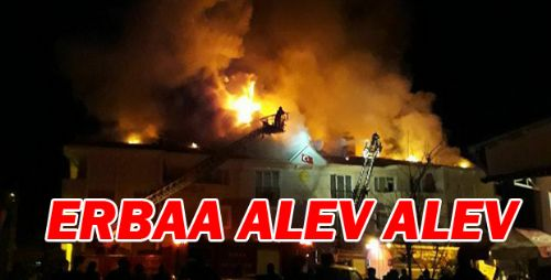 Erbaa'da Korkutan Çatı Yangını