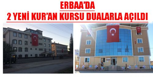 Erbaa'da Kur'an Kursları Dualarla Açıldı