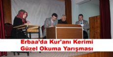 Erbaa'da Kur'anı Kerimi Güzel Okuma Yarışması Düzenlendi
