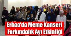 Erbaa'da Meme Kanseri Farkındalık Ayı Etkinliği