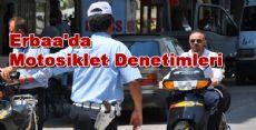 Erbaa'da Motosiklet Denetimleri