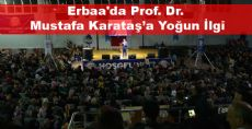 Erbaa'da Prof. Dr. Mustafa Karataş'a Yoğun İlgi