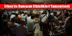 Erbaa'da Ramazan Etkinlikleri Tamamlandı