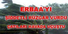 Erbaa'da Şiddetli Rüzgar