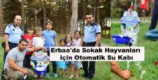 Erbaa'da Sokak Hayvanları için Otomatik Su Kabı