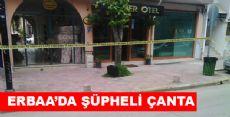 Erbaa'da Şüpheli Çanta Alarmı