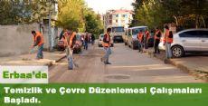 Erbaa'da Temizlik ve Çevre Düzenlemesi Çalışmaları Başladı